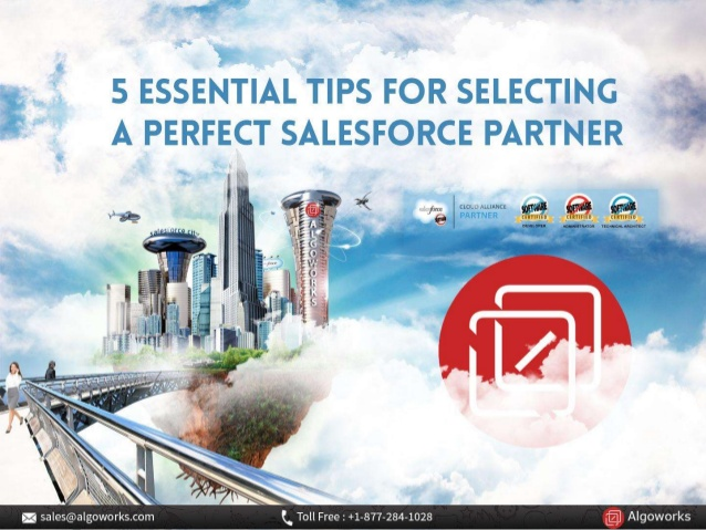 5 Essential Tips For Selecting A Perfect Salesforce Partner