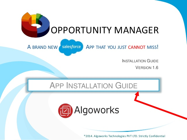Opportunity Manager Installation Guide – A Salesforce App You Can't Miss