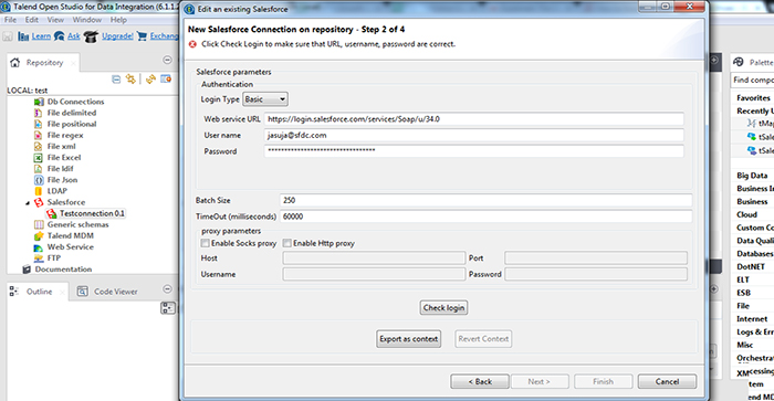 How to Import and Export data from Salesforce using Talend5