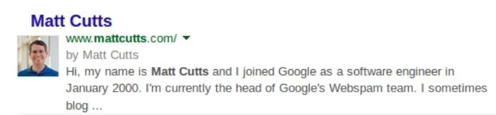 Google Authorship Example