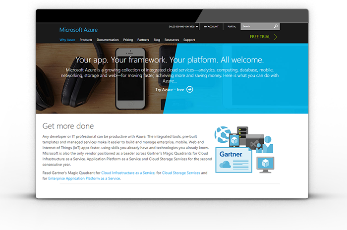 Windows Azure' web server