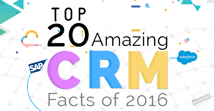 Top 20 Amazing CRM Facts Of 2016 | An Infographic