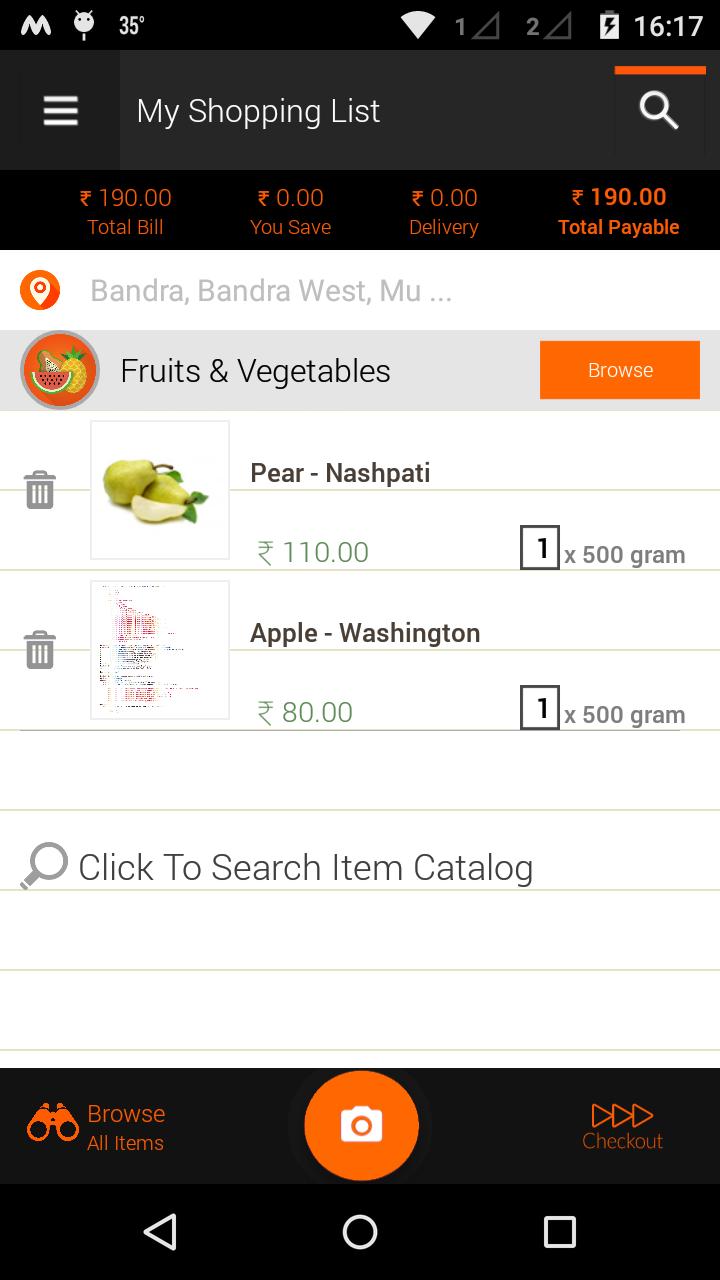 Shopping Store Mobile app
