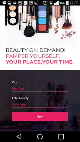 Get beauty services through mobile app