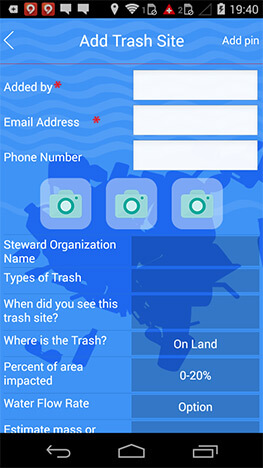 cleanospecto trash reporting mobile application