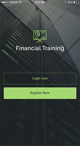 financial training mobile application
