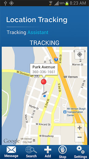 track your location with mobile application