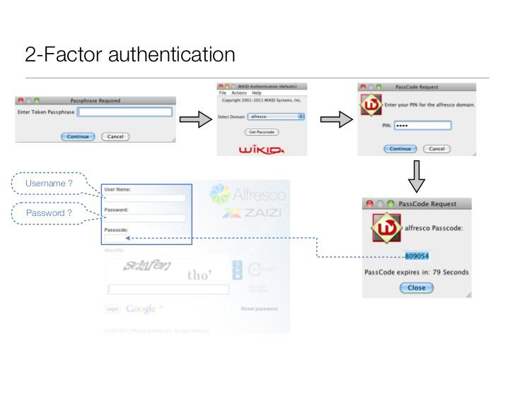 Alfresco Two Factor Authentication