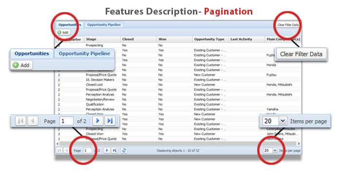 Opportunity Manager Pagination Feature