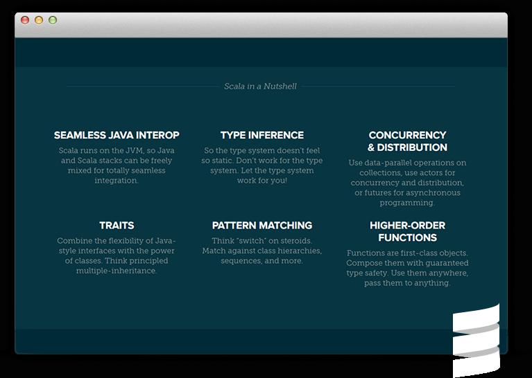 Scala App Development Features