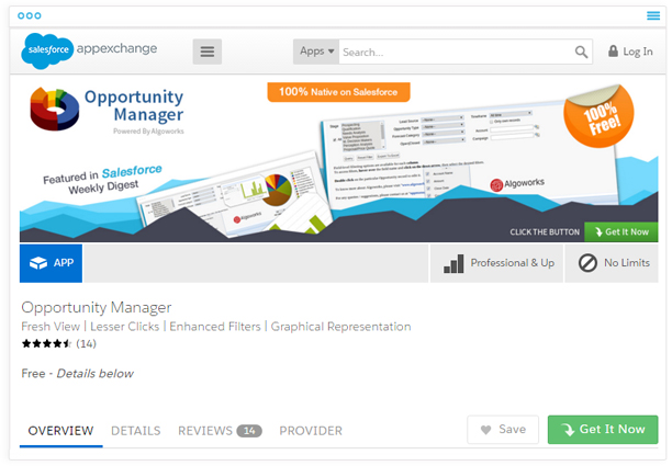 Opportunity Manager on AppExchange