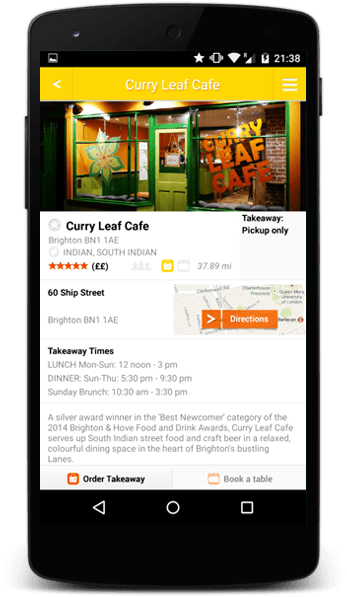 Order your food through mobile app