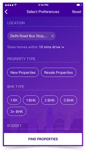 Real Estate Search Mobile App for iOS