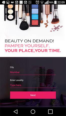 Get beauty services through mobile app