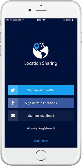 geofence sms messaging app