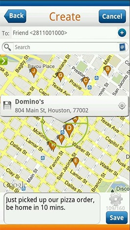 geofence sms messaging mobile application