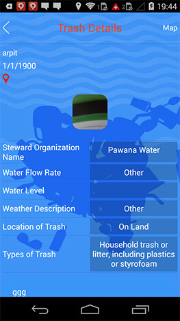 trash reporting mobile application
