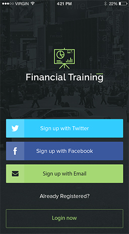 financial training mobile app for android