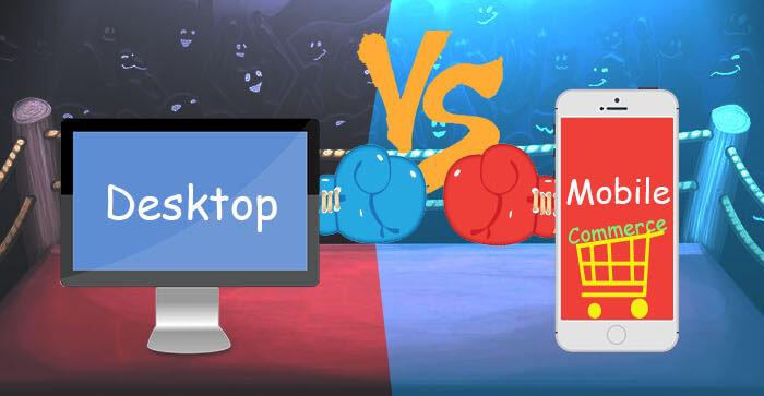 Desktop Vs. Mobile Commerce | An Infographic