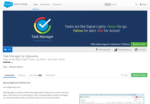 Task Management App on Salesforce AppExchange